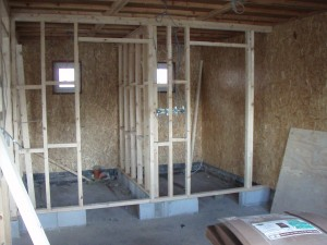Wall bracing and stud partitions